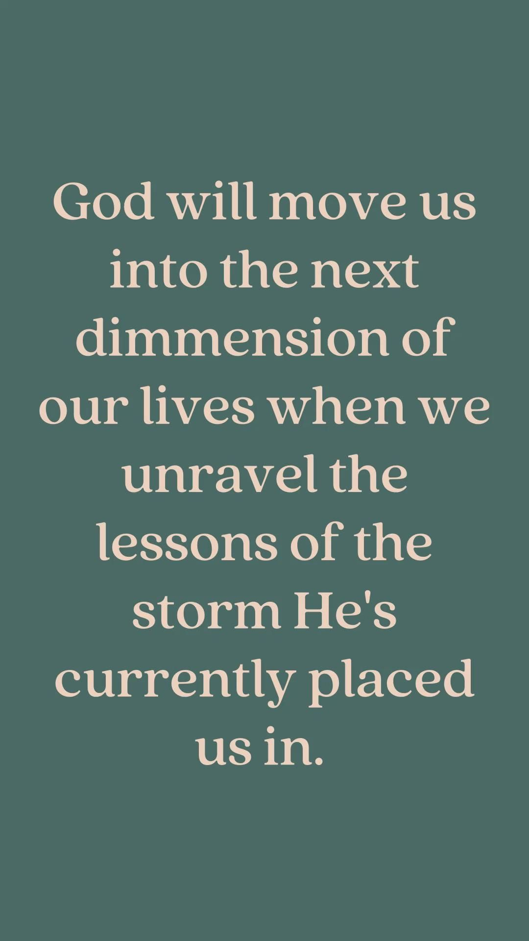 Gods plan and Gods timing are perfect. Gods grace will  be with you through the trials. Trust God.
