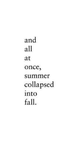 Goodbye Summer And Hello Fall :)