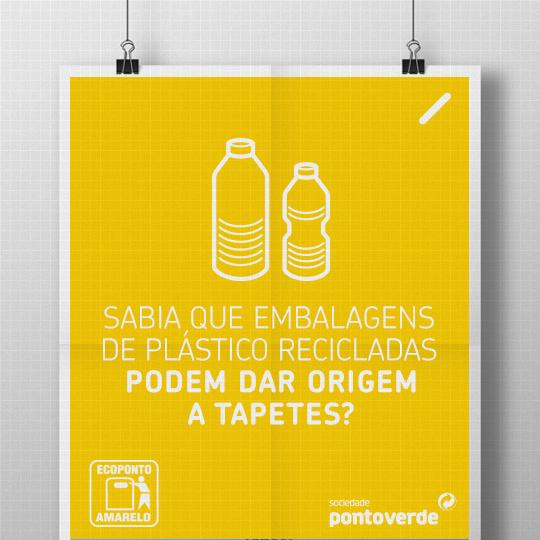 Acredita em tapetes voadores? Também não precisa. Basta que saiba que os tapetes normais podem ter origem na reciclagem das normais embalagens de plástico. E não é magia: com pequenos gestos, podemos sonhar com um mundo melhor.