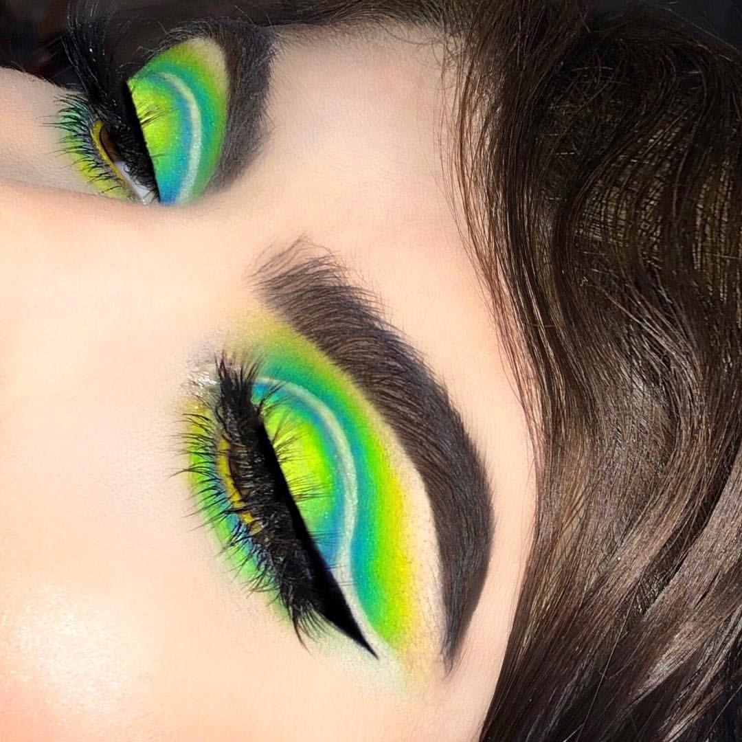 Neon Eyeshadow Yellow Green And Blue Eyeshadow Ig Emvalencia