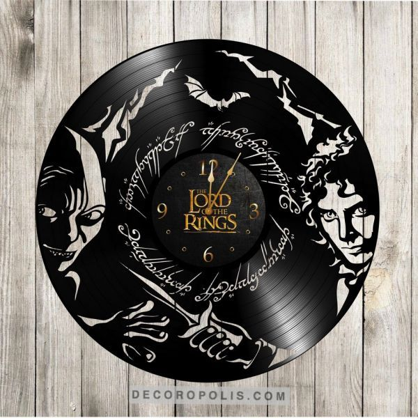 Lord of the Rings clock vinyl record LP gift