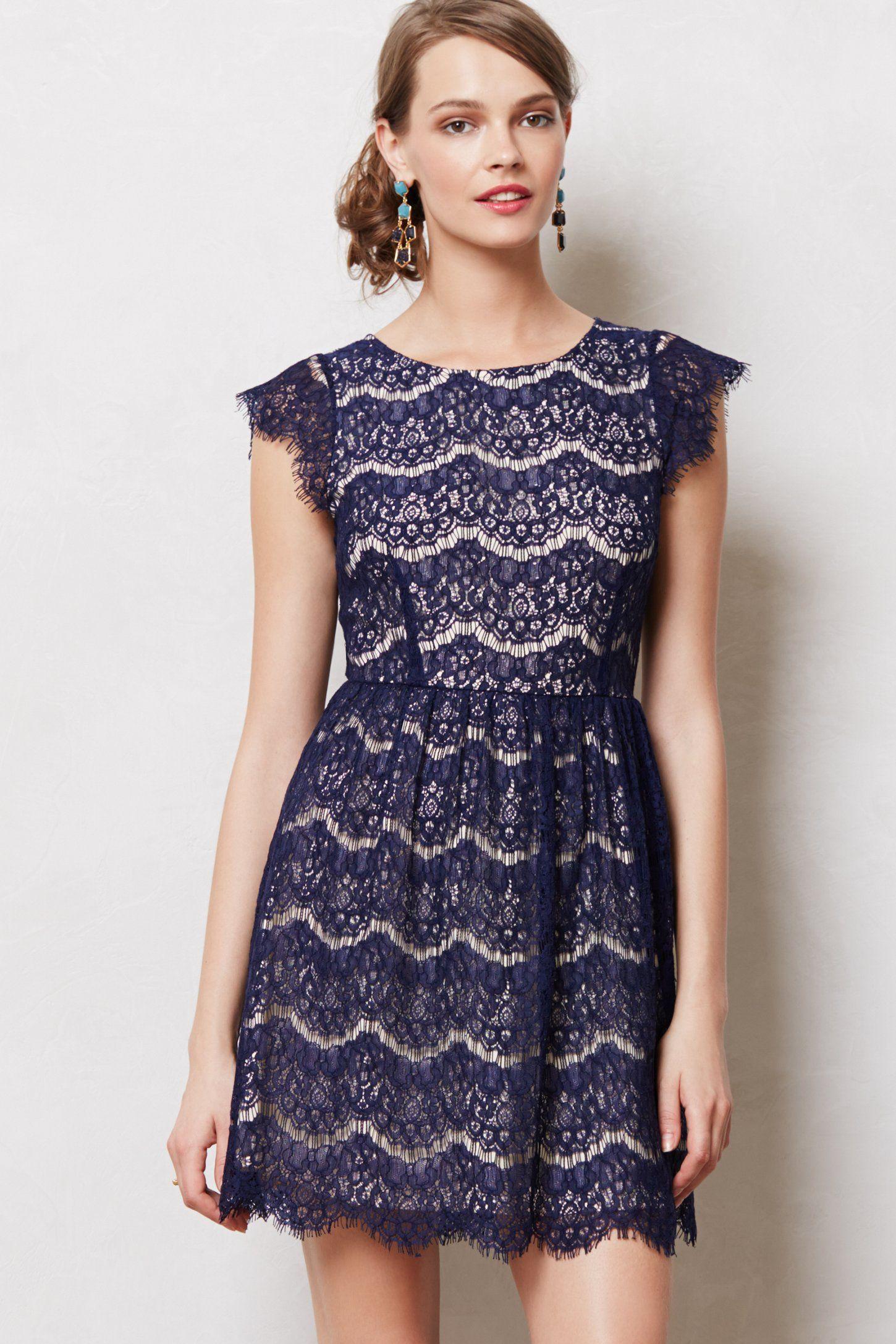 Lace dress navy  Nevicata Dress  Anthropologie  ClothesI love  Pinterest