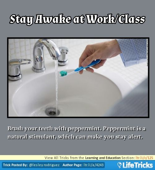 Learning and Education - Stay Awake at Work\/Class Good to know - how to stay awake at work