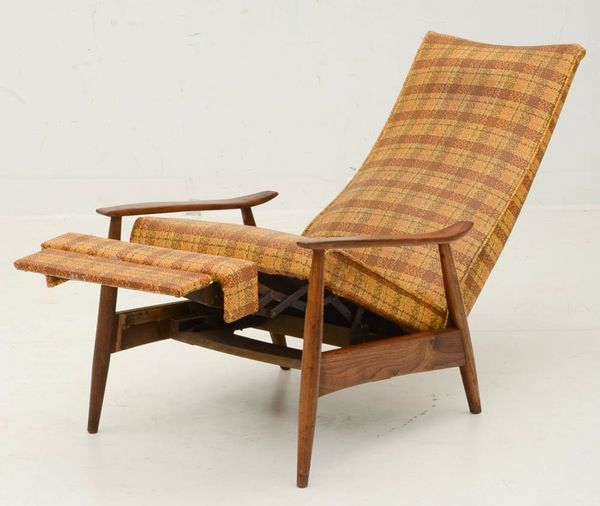 Cool Mid Century Modern Reclining Armchair Upholstered Chairs Short Links Chair Design For Home Short Linksinfo