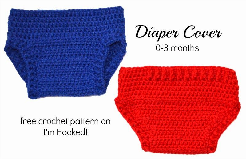 Free crochet pattern for a baby diaper cover by I\'m Hooked ...