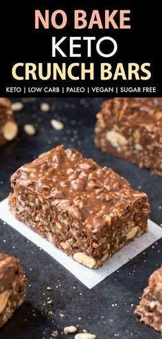 Photo of Homemade Keto Chocolate Crunch Bars (Paleo, Vegan, Low Carb)