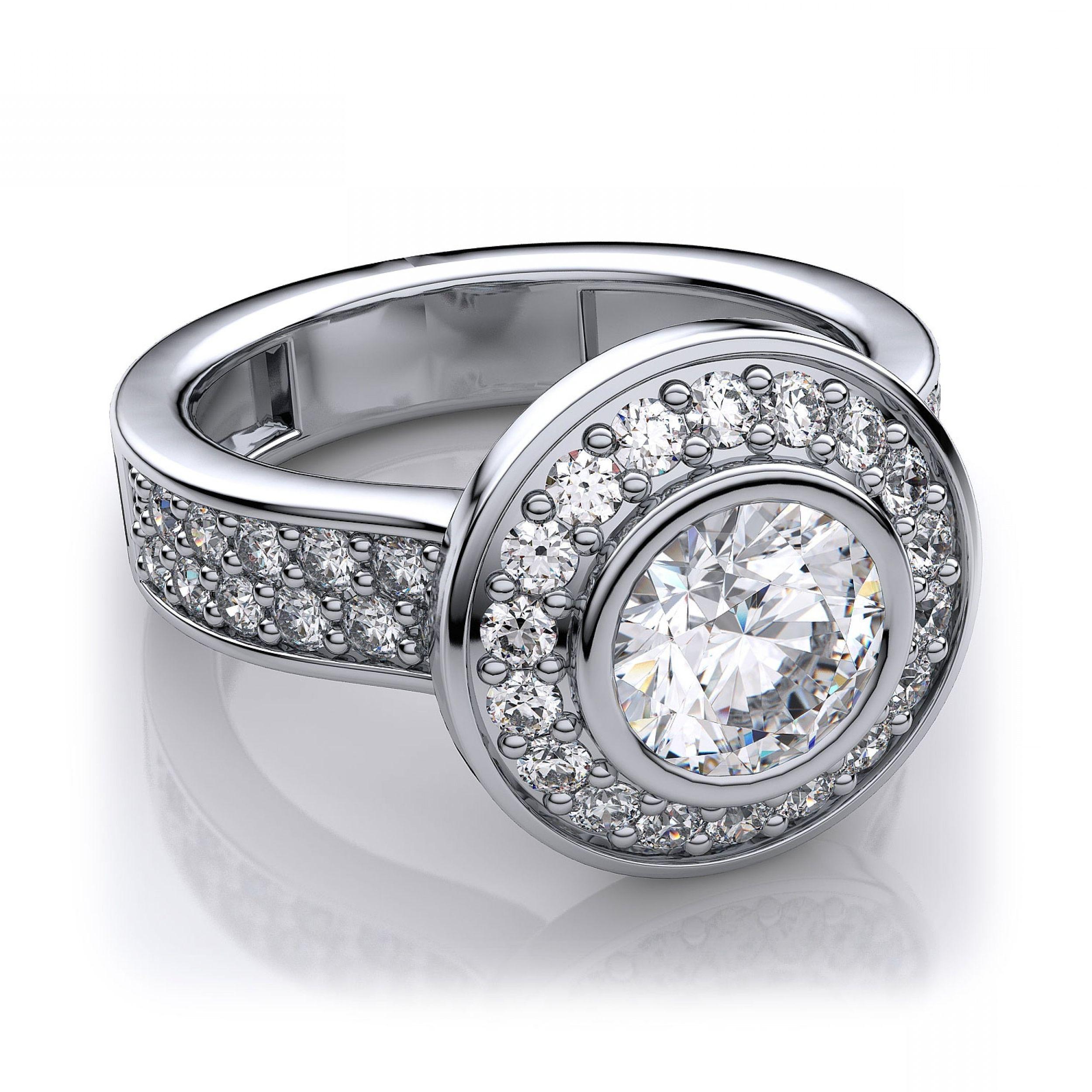 Bezel Setting Diamond Ring