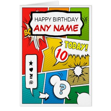 Vintage comic book personalised birthday card birthday gifts party personalized birthday cards bookmarktalkfo Image collections