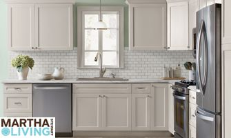 home depot kitchen refacing glass front cabinets martha stewart cabinet for the