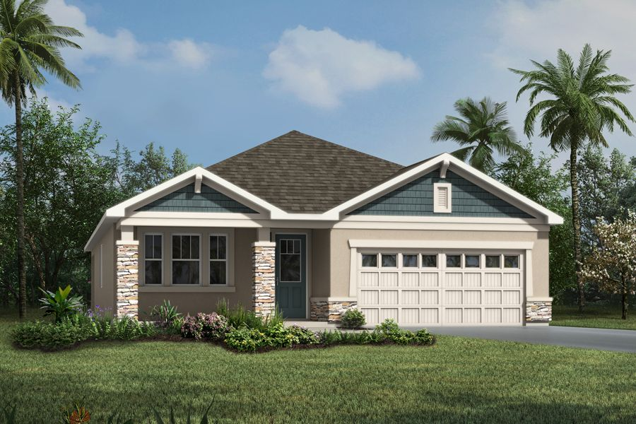 Emma Single Family Home Craftsman Elevation Waterbrooke Clermont Orlando Florida Mattamy Homes New Homes New Home Builders Clermont