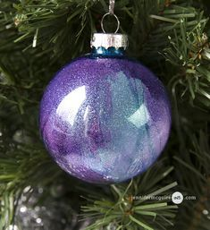 Glitter & Alcohol Ink Ornaments - Jennifer McGuire Ink