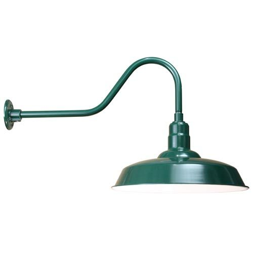 Anp Lighting Warehouse Forest Green 20 Inch Outdoor Wall