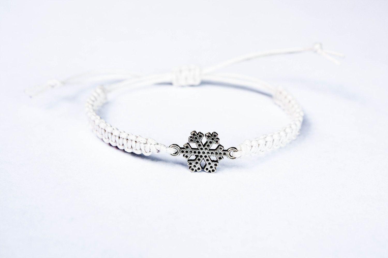 Snowflake Bracelet Snow Jewelry Winter Christmas
