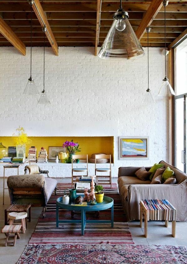 nice Wandfarben fürs Wohnzimmer \u2013 100 trendy Wohnideen für Ihre