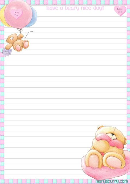lined stationery Ositos \ - lined stationery paper