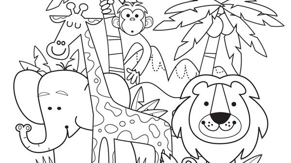 Jungle Pictures To Colour And Print - Doraemon