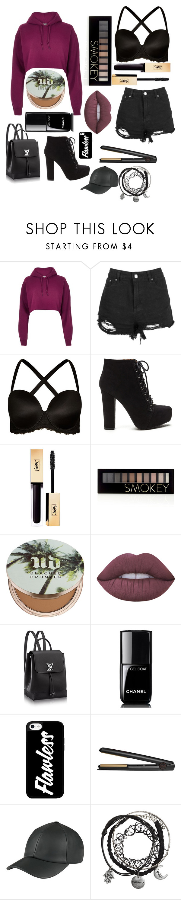 """""""Untitled #7"""" by denisegul ❤ liked on Polyvore featuring River Island, Boohoo, City Chic, Forever 21, Urban Decay, Lime Crime, Chanel and GHD"""