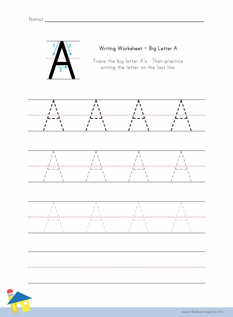 free learn to write letters worksheets