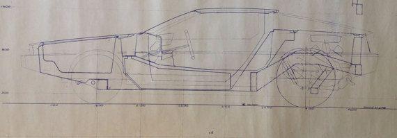 Delorean Authentic Pre Production Blueprint 1975 John Z-6918