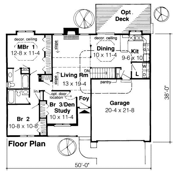 Ranch Style House Plan 3 Beds 2 Baths 1307 Sq Ft Plan 312 417 Floor Plan Design How To Plan House Plans