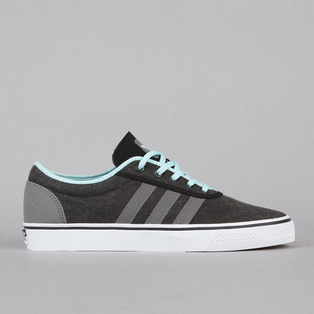 Adidas Adi Ease Black Mid Cinder F09 Ocean Skate Shoes
