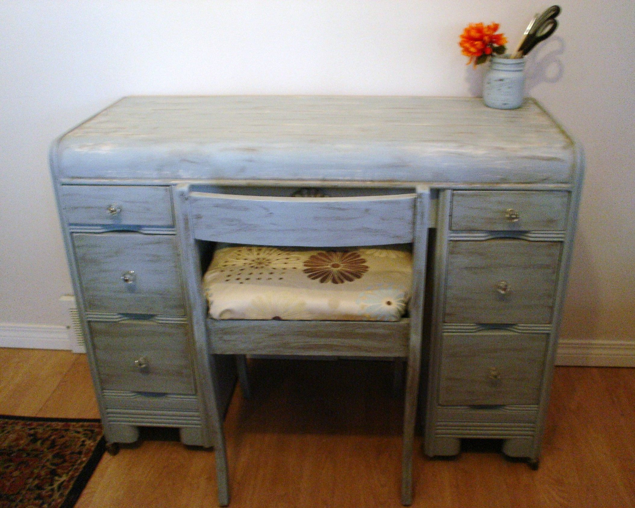 Antique Waterfall Shabby Chic desk and chair  For the