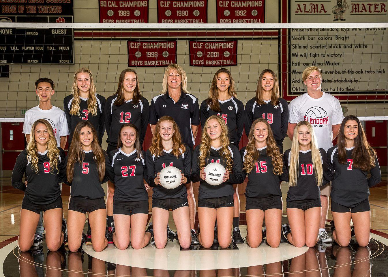 Glendora High School Girls Volleyball Team Individual Com Imagens