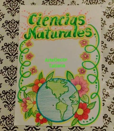 Marcacion Cuaderno Ciencias Naturales 2 In 2021 Notebook Art Cool School Supplies Decorate Notebook