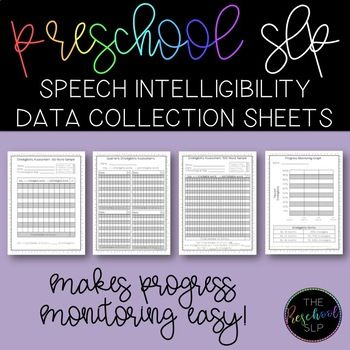 Speech Language Pathology Intelligibility Rating Form, Progress