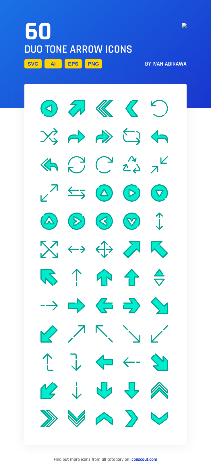 Download Duo Tone Arrow Icon pack Available in SVG, PNG
