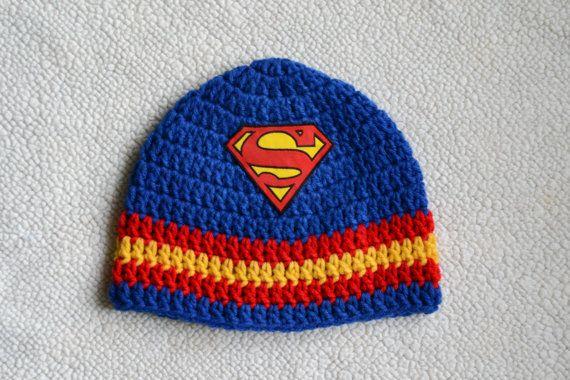 Superhero Superman inspired crochet hat | Crochet | Pinterest ...