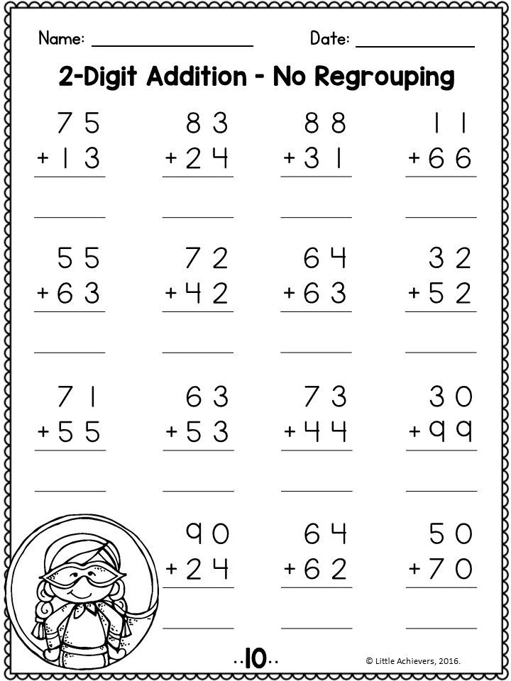 2 Digit Addition And Subtraction Without Regrouping Worksheets Addition And Subtraction Basic Math Worksheets 2nd Grade Math Worksheets
