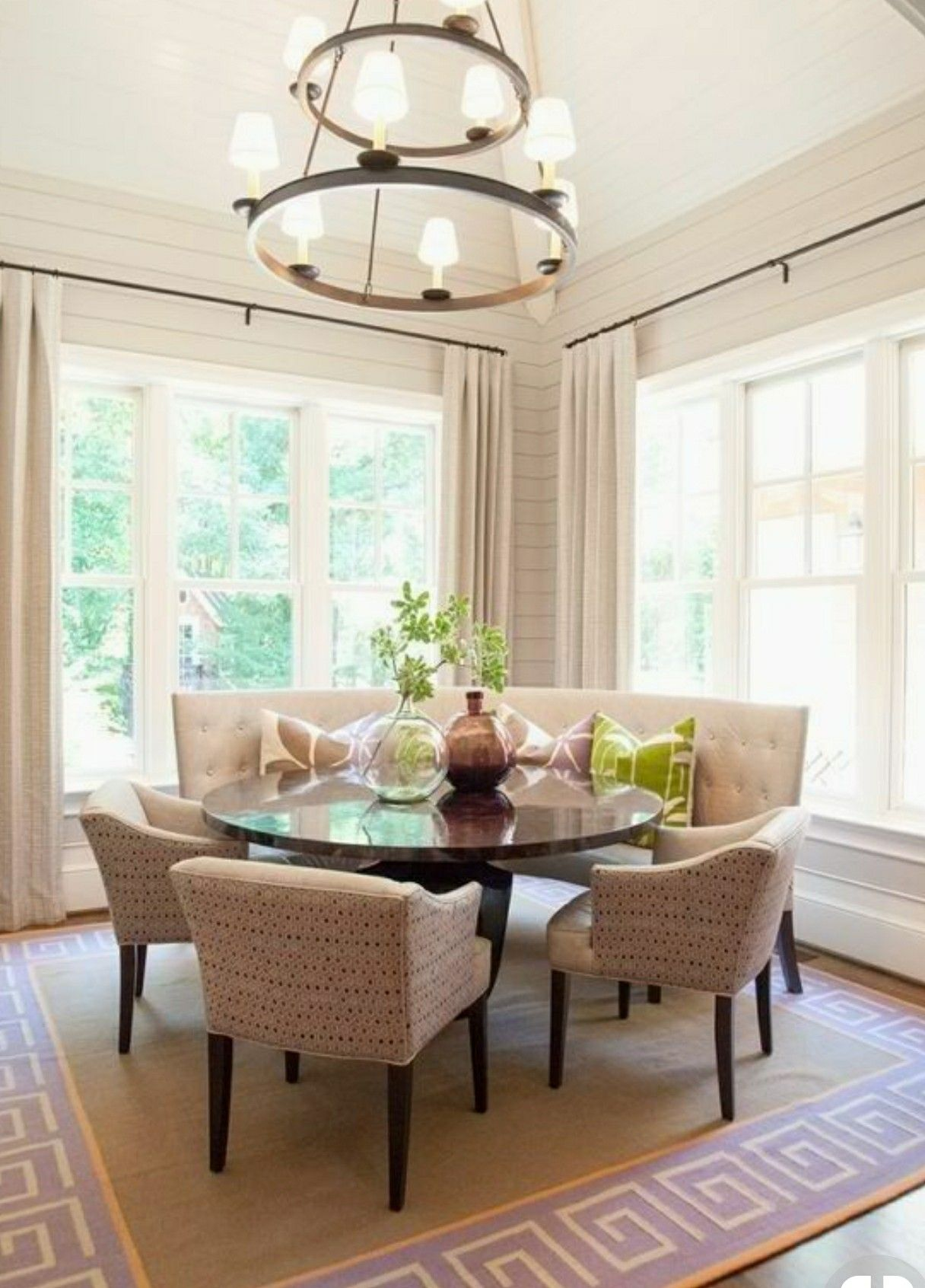 I Love This Table Dining Room Banquette Banquette Dining Round Dining Room