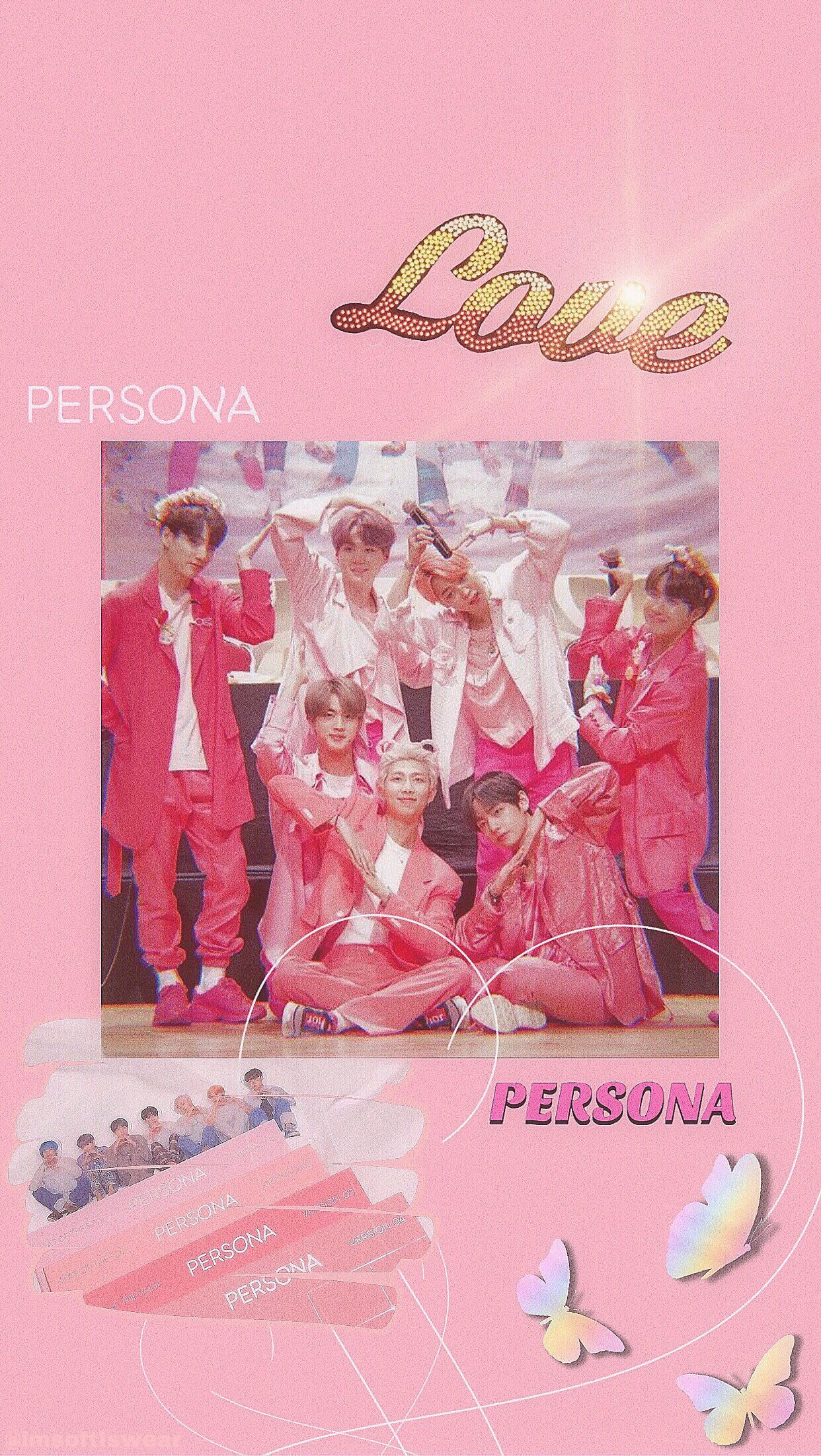 Persona I Made This At 2am Bts Aesthetic Wallpaper For Phone Pink Walpaper Pink Wallpaper Iphone