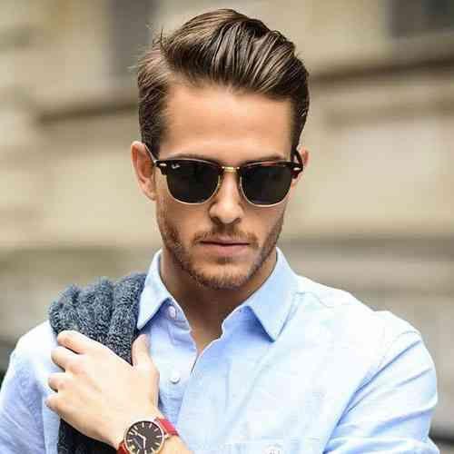 Mannerfrisuren mit brille