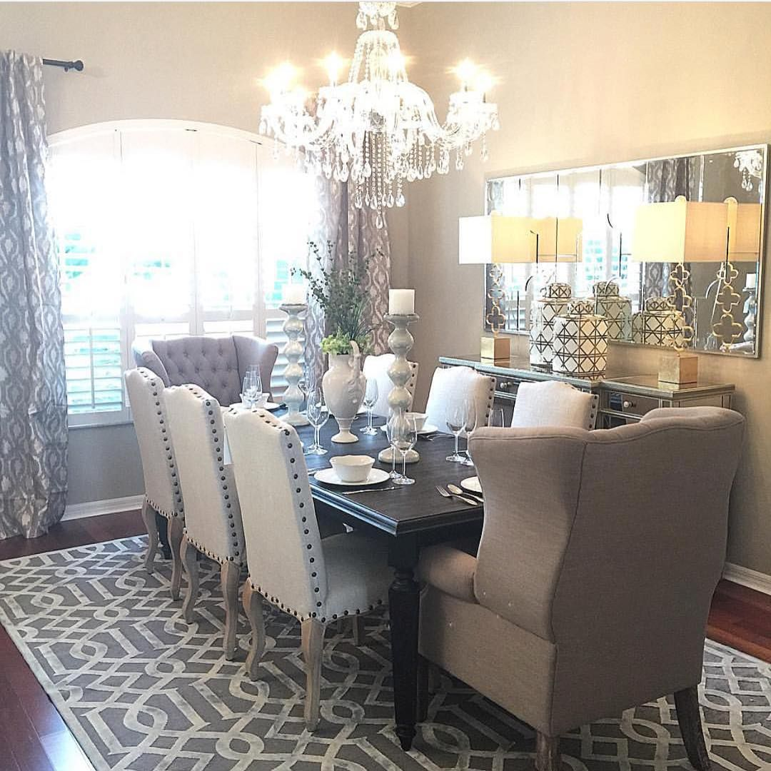 """1,123 Likes, 35 Comments - Interior Designer (@onepiece_at_a_time_design) on Instagram: """"One of my favorite dining rooms from last year! #interiordesigner #homedecor #zgalleriemoment…"""""""