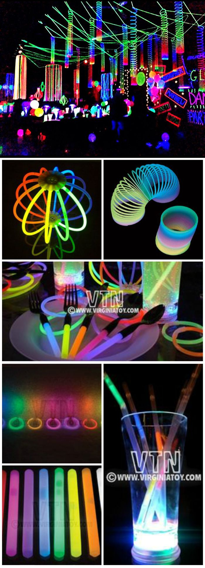 Glorious Glow Party Glow In The Dark Spooktacular Halloween Party Decorations Ideas Glow Party Decorations Glow Birthday Party Glow In Dark Party