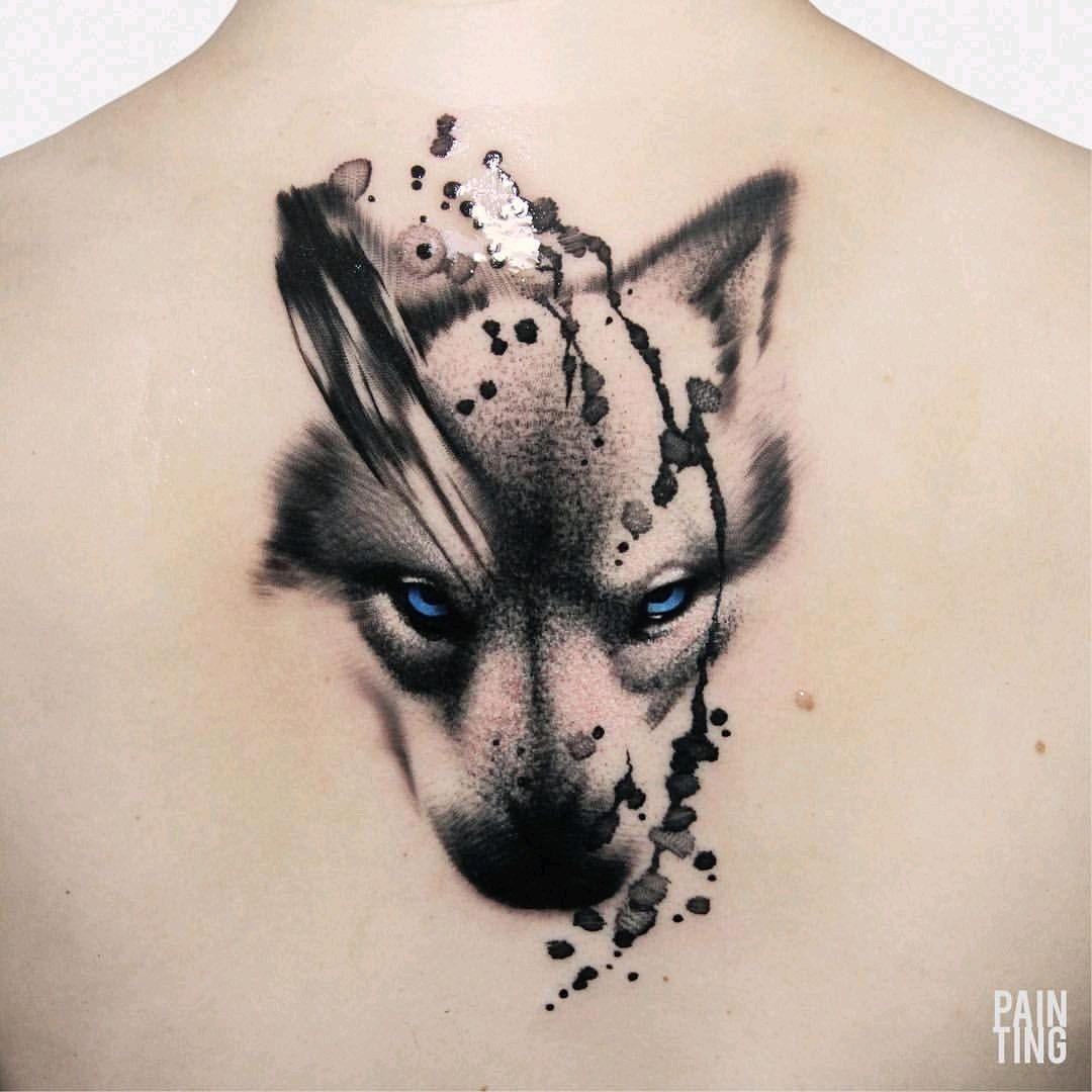 Clairelou By Syzmongdowicz Painting Wolf Abstract Watercolor Tattoodo Wolf Face Tattoo Abstract Tattoo Wolf Tattoos For Women