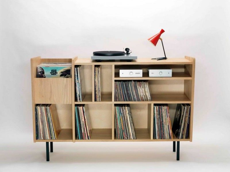 35 id es d co pour ranger des vinyles vinyles ranger et idee deco. Black Bedroom Furniture Sets. Home Design Ideas