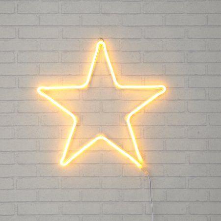 Urban Shop Neon Star Sign