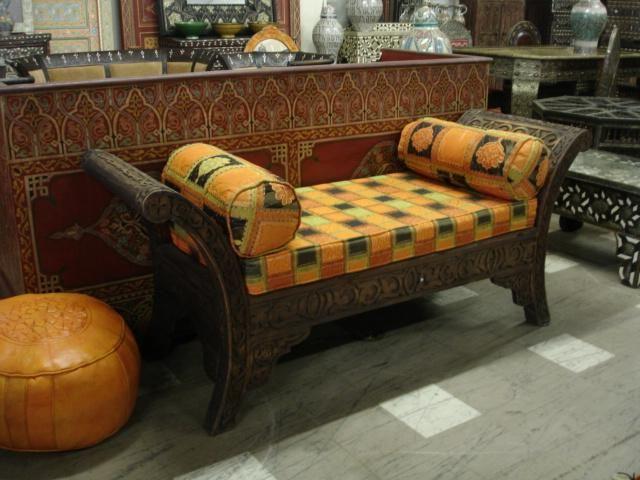 صور كنب مجالس مغربي وخليجي موديلات 2017 ميكساتك Carved Sofa Moroccan Lounge Indoor Bench