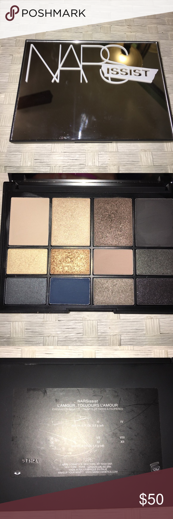 ✨✨✨NARS NARSissist Eyeshadow Palette✨✨ *Gently used* includes 4 matte shades and 8 shimmer shades. A beautiful neutral palette with super a creamy shade selection. This is a Limited Edition item. NARS Makeup Eyeshadow