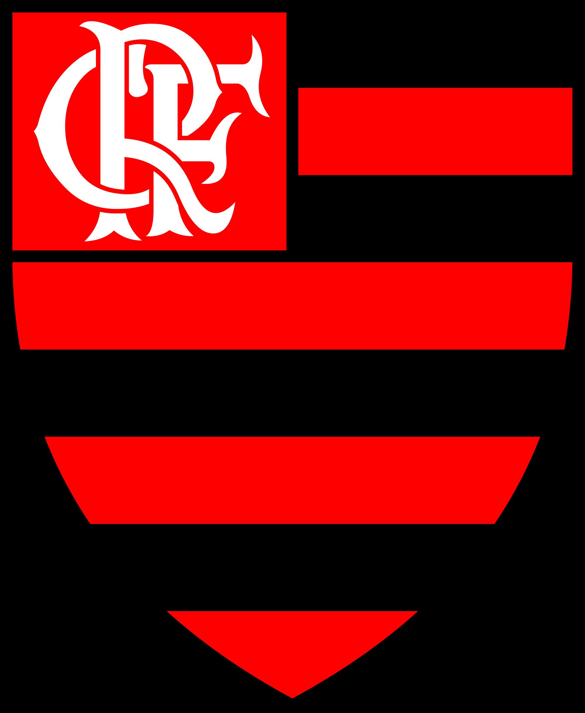 Escudo do Clube de Regatas Flamengo, time brasileiro do Rio de Janeiro, campeão Brasileiro, campeão da taça Libertadores de América e campeão do Mundo no Japão.