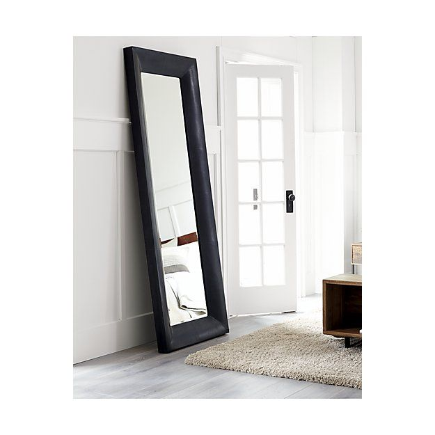 Maxx Black Floor Mirror Crate And Barrel Black Floor Mirror Mirror Black Wooden Floor