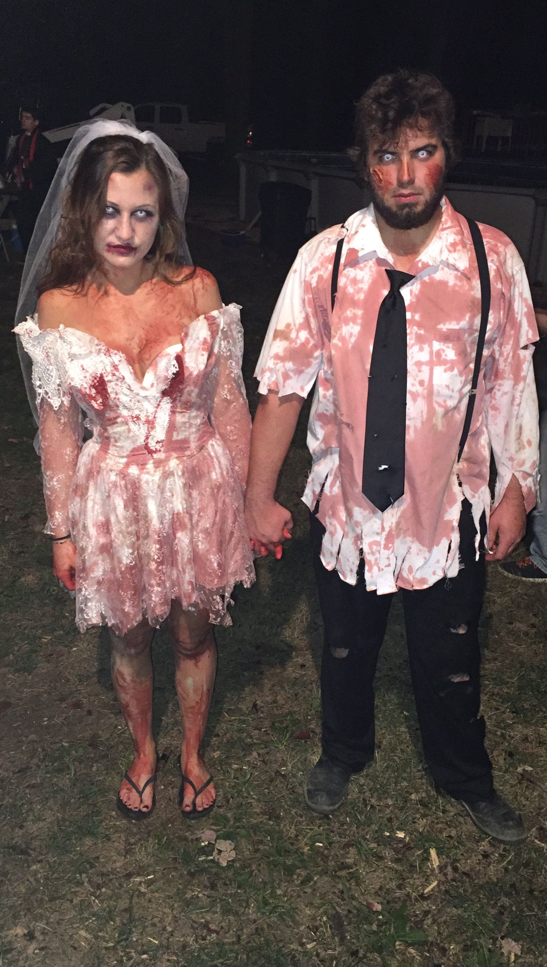 c68af6bc25c Zombie bride and groom. Halloween. Couples costume | Halloween ...