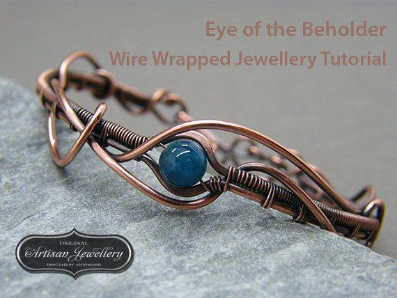 Wire wrap jewelry tutorial ~ Wire wrapped jewellery ~ Wire tutorial ...