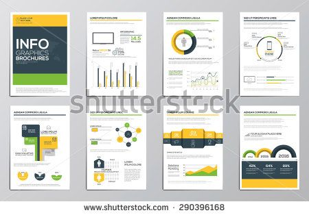 Business Infographics Elements For Corporate Brochures Collection Of Modern Infographic Elements In A Business Infographic Corporate Brochure Workbook Design