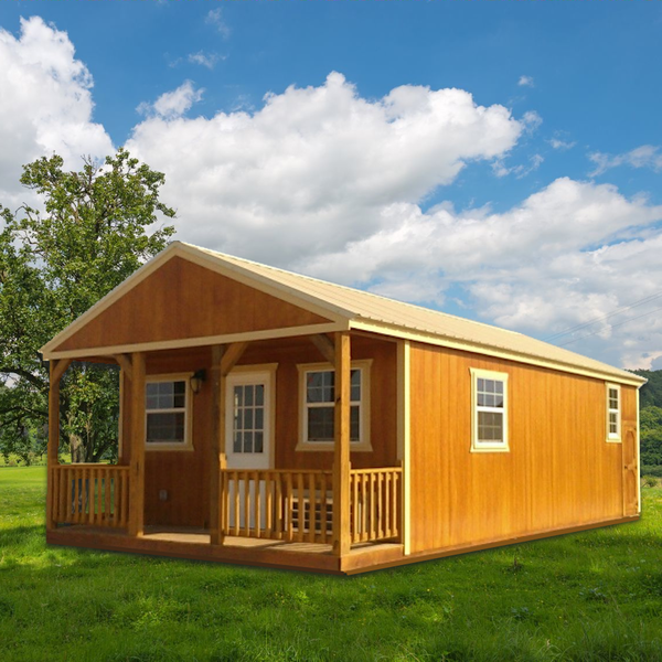 One Bedroom Finished Cabin Lofted Barn Cabin Portable Buildings One Bedroom