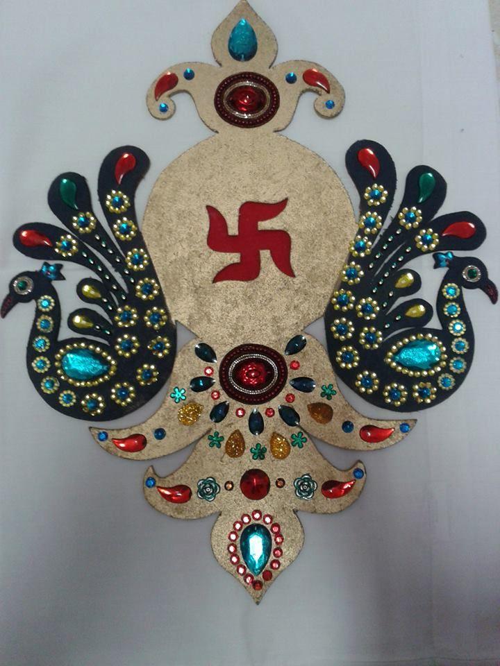 decorated Board Rangoli Diwali Pinterest