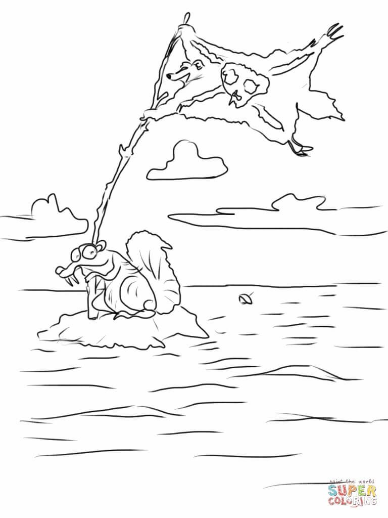 Ice age 4 continental drift coloring page